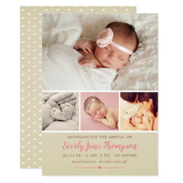 Baby Girl Birth Invitations Announcements Zazzle - Girl birth announcements