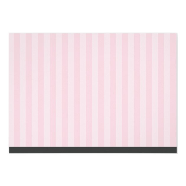 Girl Photo Graduation Bear Pink Stripes 5x7 Paper Invitation Card (back side)