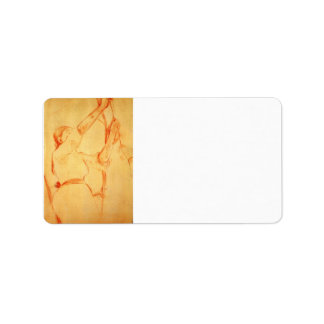Girl picking cherries by Berthe Morisot Personalized Address Labels