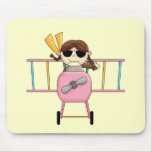 Girl Pilot T-shirts and Gifts Mouse Pad