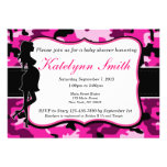 Girl Pink Camouflage Baby Shower Invitation