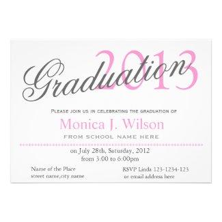 Girl pink classic,stylish graduation announcement