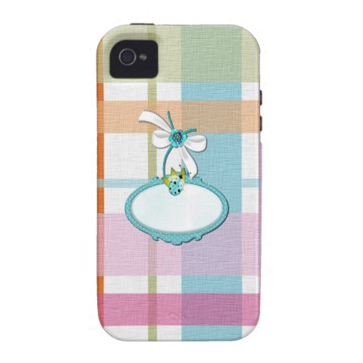 Girl Pink Plaid Striped Customize Vibe iPhone 4 Covers