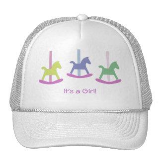 Girl Pink & Purple Rocking Horse Cap