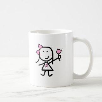 Girl & Pink Ribbon Coffee Mug