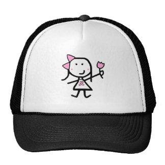 Girl & Pink Ribbon Trucker Hat