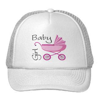 girl pink stroller trucker hat