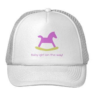 Girl Pink & Yellow  Rocking Horse Cap