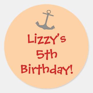 Girl Pirate Birthday Sticker
