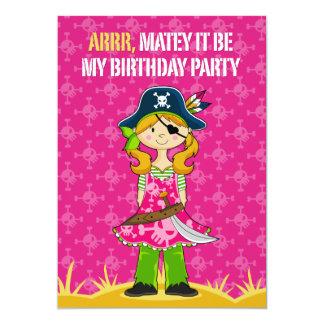 Girl Pirate Captain Party Invite