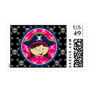 Girl Pirate Captain Postage