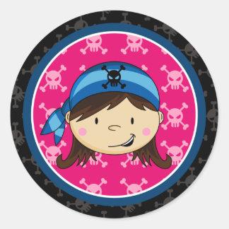 Girl Pirate Crewman Sticker Sheet