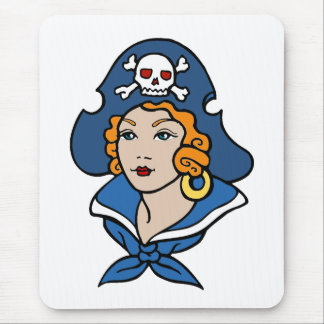 Girl Pirate Mouse Pad