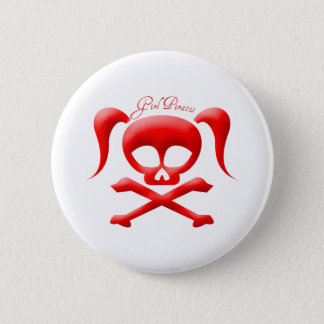 Girl Pirates Button