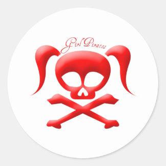 Girl Pirates Stickers