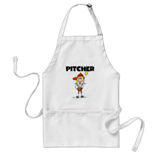 Girl Pitcher Adult Apron