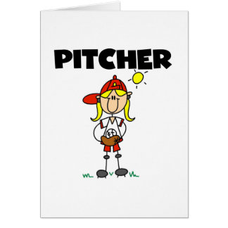 Girl Pitcher Greeting Card