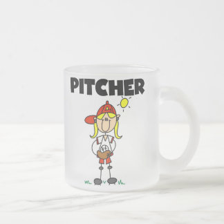 Girl Pitcher Frosted Glass Coffee Mug