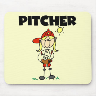 Girl Pitcher Tshirts and Gifts Mouse Pad