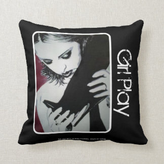 'Girl Play' (Throw) American MoJo Pillow