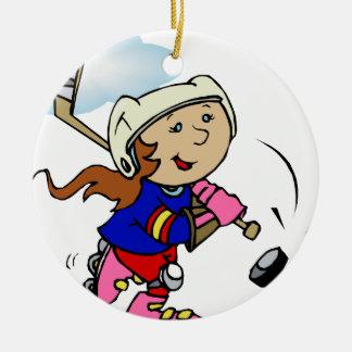 Girl Player Christmas Ornaments