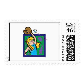 Girl Player Stamps