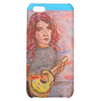 girl playin' ukulele iPhone 5C covers