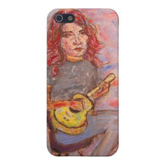 girl playin' ukulele iPhone 5 cover