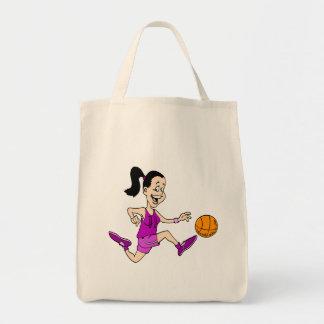 Girl playing basketball 11 tote bag
