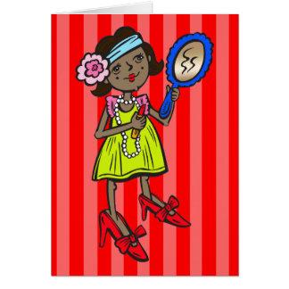 Girl Playing Dress Up Card