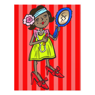 Girl Playing Dress Up Flyer