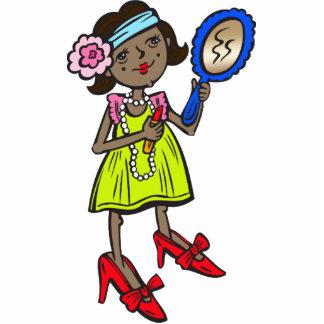 Girl Playing Dress Up Standing Photo Sculpture
