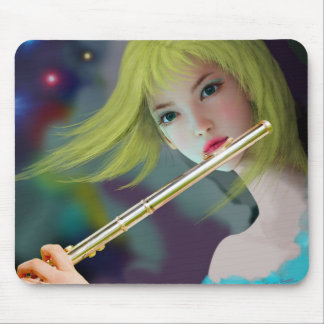 Girl Playing Flute 2 Mouse Pad