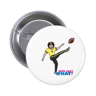 Girl Playing Football Light/Blonde Pin