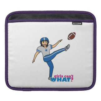 Girl Playing Football - Medium Sleeve For iPads