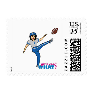 Girl Playing Football - Medium Postage