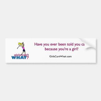 Girl Playing Golf Bumper Sticker