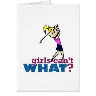 Girl Playing Golf Card