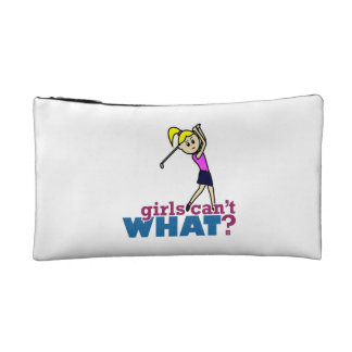 Girl Playing Golf Makeup Bag