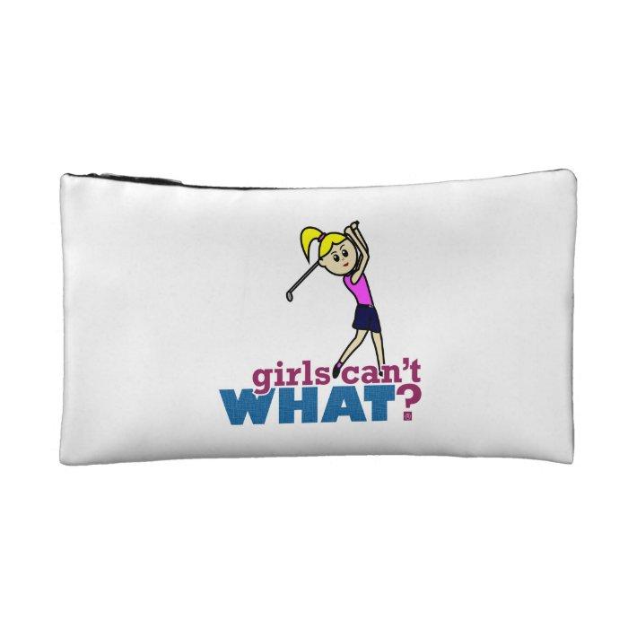Girl Playing Golf Makeup Bag