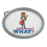 Girl Playing Guitar Belt Buckle