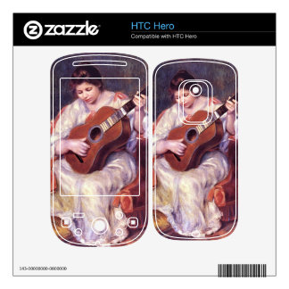 Girl Playing Guitar by Pierre Renoir Decal For The HTC Hero