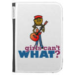 Girl Playing Guitar Case For The Kindle