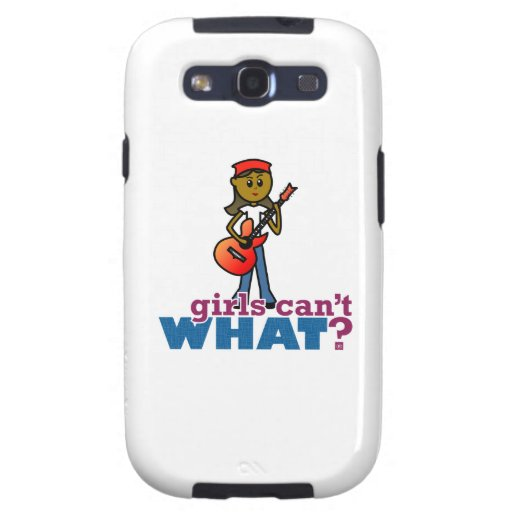 Girl Playing Guitar Galaxy S3 Case
