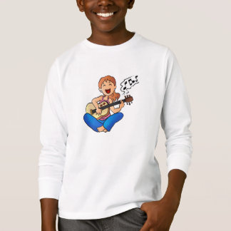 girl playing guitar T-Shirt
