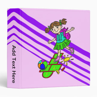 Girl Playing Hopscotch 2 Binder
