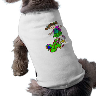 Girl Playing Hopscotch 2 Doggie Tshirt