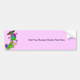Girl Playing Hopscotch Bumper Sticker