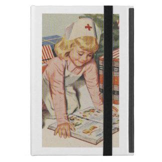 Girl playing Nurse - Retro iPad Mini Case