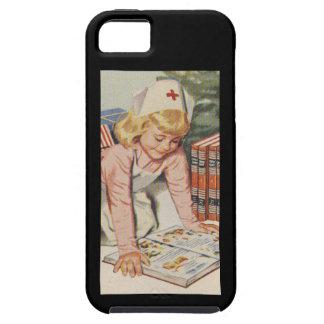 Girl playing Nurse - Retro iPhone SE/5/5s Case